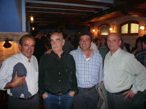 Candidatos al Ayuntamiento de Torralba junto a Labordeta