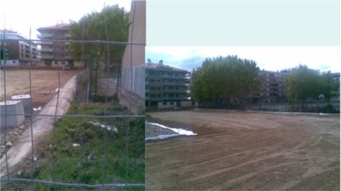 Acequia canalizada junto a la nueva Escuela Infantil