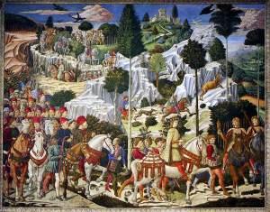 Gozzoli-El cortejo de los reyes magos